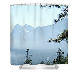 3 Of 4 Controlled Burn Of Yosemite Section Shower Curtain