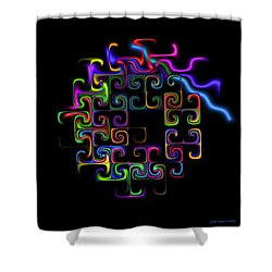 Shower Curtain featuring the digital art Conundrum by Judi Suni Hall