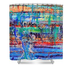 Convection Diffusion Shower Curtain by Regina Valluzzi