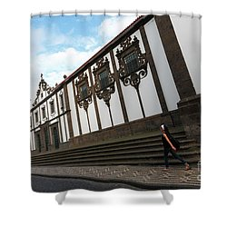 Convent In Azores Islands Shower Curtain by Gaspar Avila