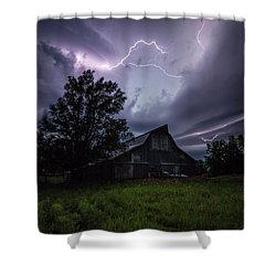 Shower Curtain featuring the photograph Convergence  by Aaron J Groen
