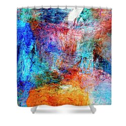 Shower Curtain featuring the painting Convergence by Dominic Piperata