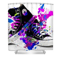 Convers All Stars Shower Curtain by Marvin Blaine