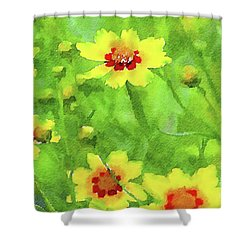Conversation Shower Curtain