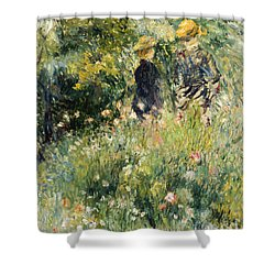 Conversation In A Rose Garden Shower Curtain
