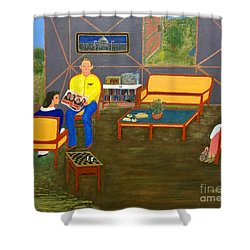 Conversations Collection Shower Curtain