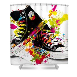 Converse All Stars Shower Curtain by Marvin Blaine