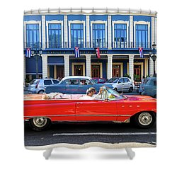 Convertible With Long Tailfins Shower Curtain