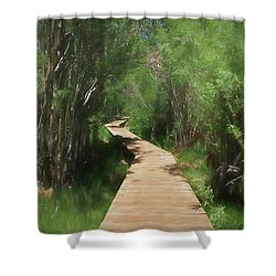 Shower Curtain featuring the photograph Convict Lake Loop Trail by Donna Kennedy