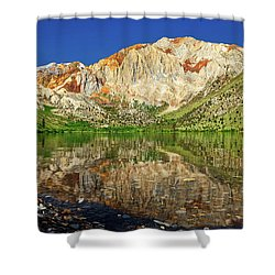 Convict Lake Shower Curtain by Rick Furmanek