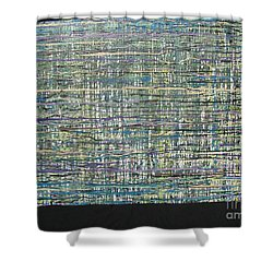 Shower Curtain featuring the painting Convoluted by Jacqueline Athmann
