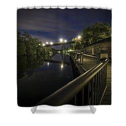 Conway Riverwalk Morning Shower Curtain