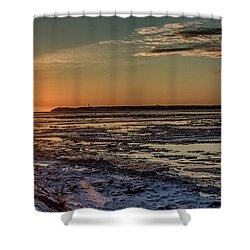 Shower Curtain featuring the photograph Cook Inlet Sunset Alaska  by Michael Rogers