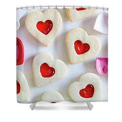 Shower Curtain featuring the photograph Cookie Baking Love by Teri Virbickis