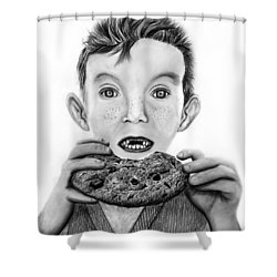 Cookie Surprise  Shower Curtain by Peter Piatt
