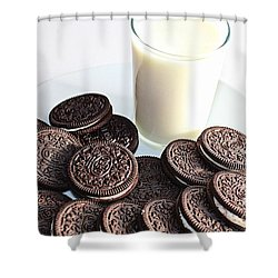 Cookies And Milk Shower Curtain by Barbara Griffin