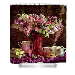 Cookies, Coffee And Comfort Shower Curtain by Wendy Blomseth