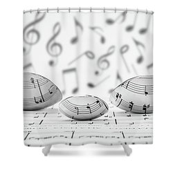 Cooking Is Like Music Shower Curtain