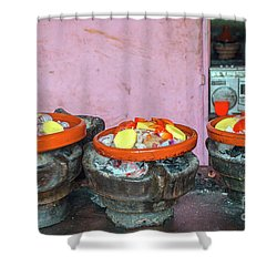 Cooking Tajine On Coal  Shower Curtain