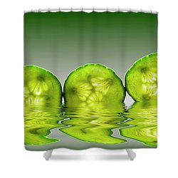 Cool As A Cucumber Slices Shower Curtain by David French