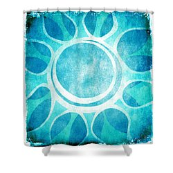 Cool Blue Flower Shower Curtain