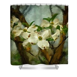 Cool Breeze Painterly Shower Curtain