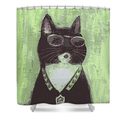 Cool Cat #2 Shower Curtain
