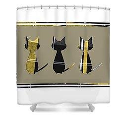 Cool Cats In Tartan Shower Curtain