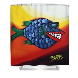 Cool Dude  Shower Curtain