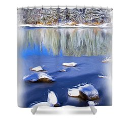 Cool Impression Shower Curtain by Chris Brannen