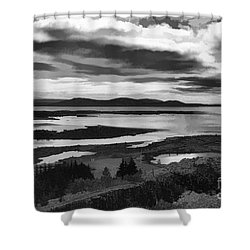 Cool Lakes Iceland Shower Curtain