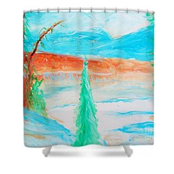 Cool Landscape Shower Curtain