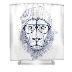 Cool Lion Shower Curtain by Balazs Solti