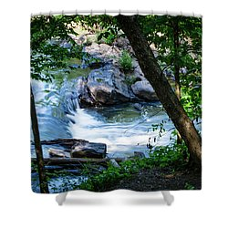 Cool Mountain Stream Shower Curtain