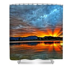 Cool Nightfall Shower Curtain by Eric Dee