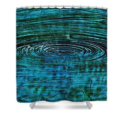Shower Curtain featuring the mixed media Cool Spin by Sami Tiainen