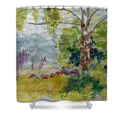 Cool Summer Clearing Shower Curtain