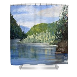 Shower Curtain featuring the painting Cool Water by Saundra Johnson