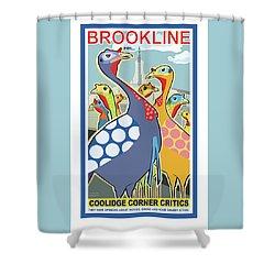 Coolidge Corner Critics Shower Curtain