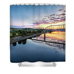 Coolidge Park Sunrise Shower Curtain