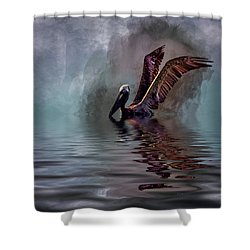 Cooling Off Shower Curtain by Cyndy Doty