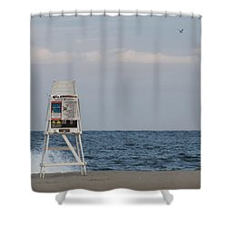 Shower Curtain featuring the photograph Cools Sands by Robert Banach
