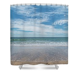 Coonah Waves Shower Curtain
