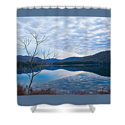 Cooper Lake Grunge Shower Curtain by Nancy De Flon