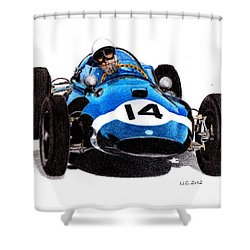 Cooper T51 Stirling Moss 1959 Shower Curtain by Ugo Capeto