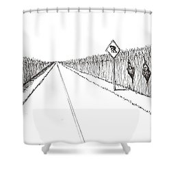 Coots Crossing Shower Curtain