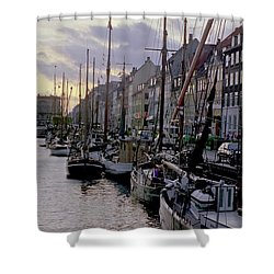 Copenhagen Quay Shower Curtain