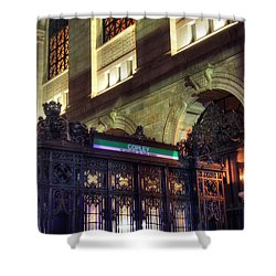Shower Curtain featuring the photograph Copley Square T Stop - Boston by Joann Vitali