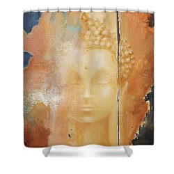 Copper Buddha Shower Curtain