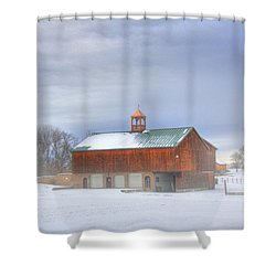 Shower Curtain featuring the digital art Copper Cupola by Sharon Batdorf